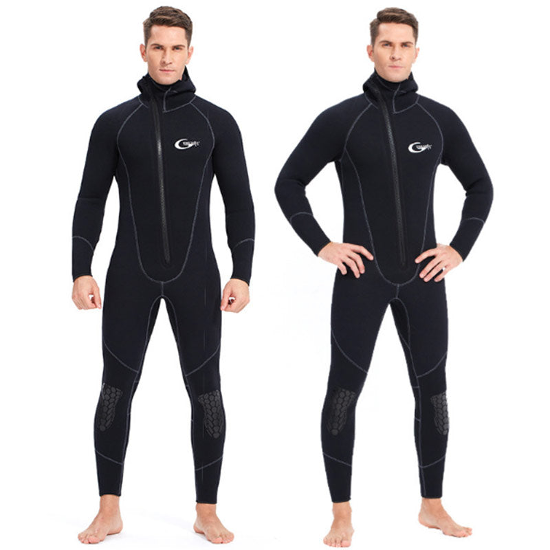 Yon Sub Mens 5MM Front Zip Hooded Full Body Wetsuit