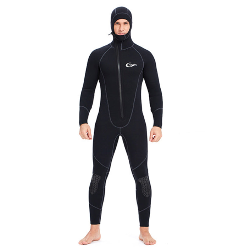 Yon Sub 7MM Front Zip One Piece Hooded Wetsuit