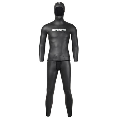 DIVESTAR 3MM Smooth Skin Hooded 2 Piece Wetsuit