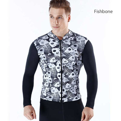 MYLEDI 3MM Skeleton Print Cool Wetsuit Jacket