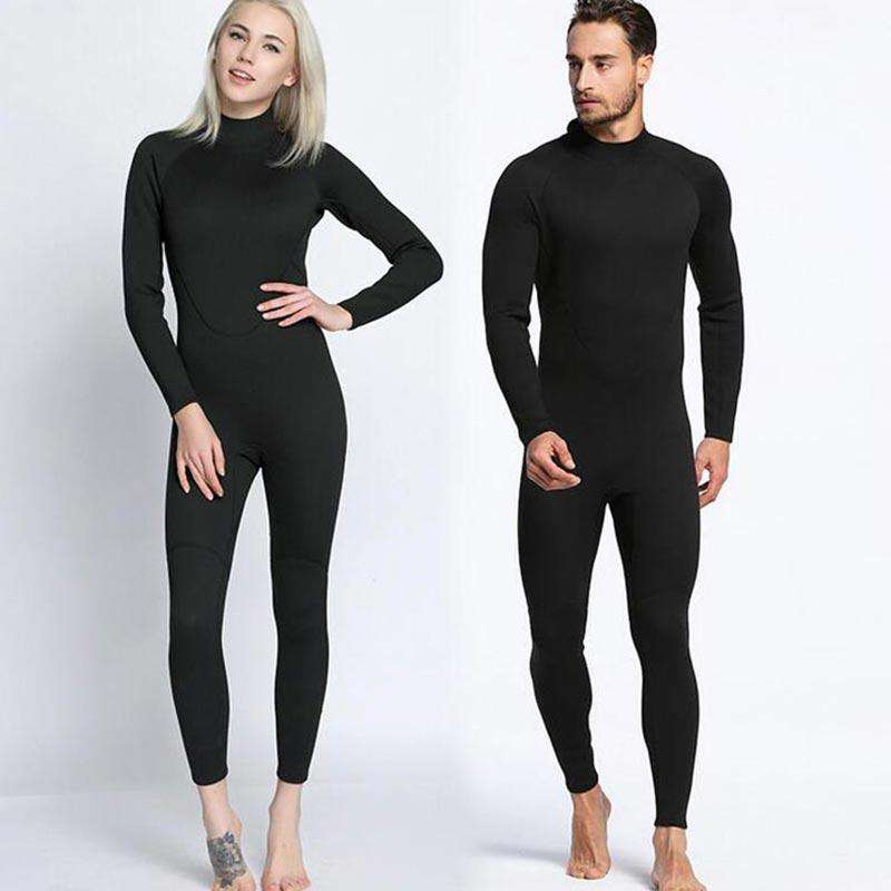 MYLEDI Black Back Zip Neoprene 2mm Full Wetsuit