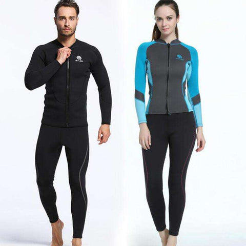 Long Sleeve Front Zip Patchwork Wetsuit Jacket