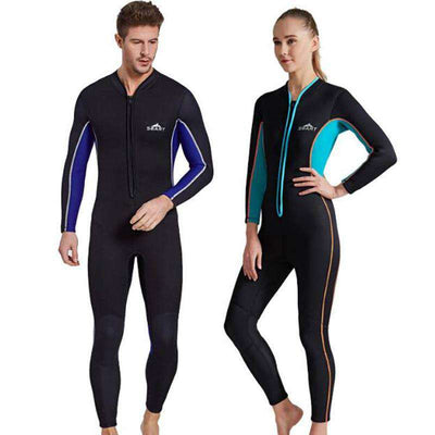 Front Zip Flatlock Stitch 3mm Full Body Wetsuit