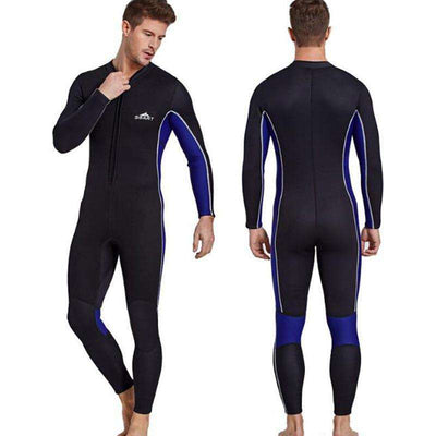 Sbart 3mm Full Wetsuit Scuba Freediving Snorkeling Suit with Front Zip