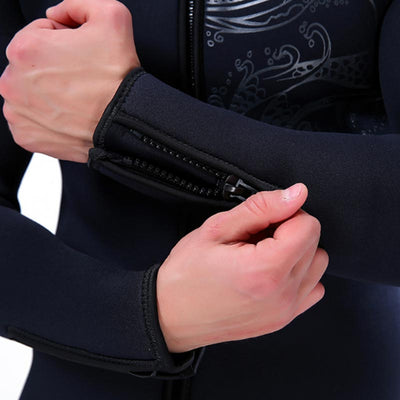 SLINX 5MM Thick Wetsuit Jacket Zippered Cuff Diving Top for Men Women