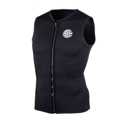 Unisex Sleeveless Front Zip 3mm Neoprene Wetsuit Vest