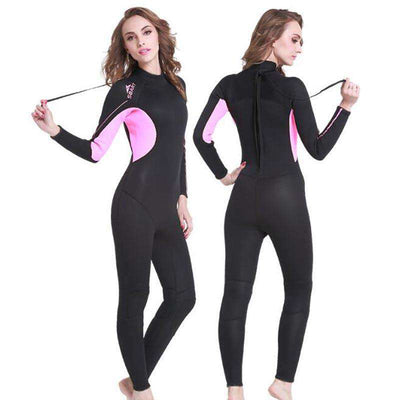 One-piece 3MM Long Sleeve Surfing Diving Wetsuit