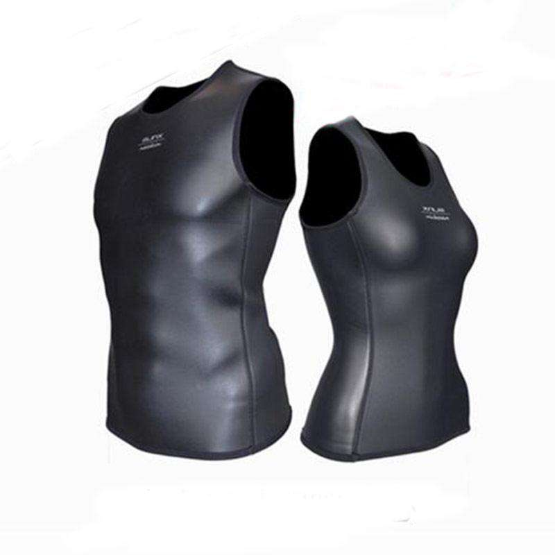 SLINX 2mm CR Smoonth Skin Wetsuit Vest Sleeveless Rubber Diving Surfing Top