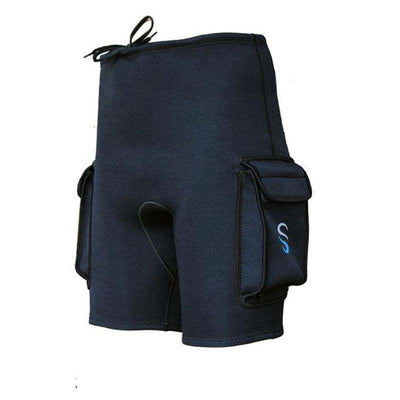 Unisex 3mm Neoprene Scuba Diving Tech Shorts with Pockets