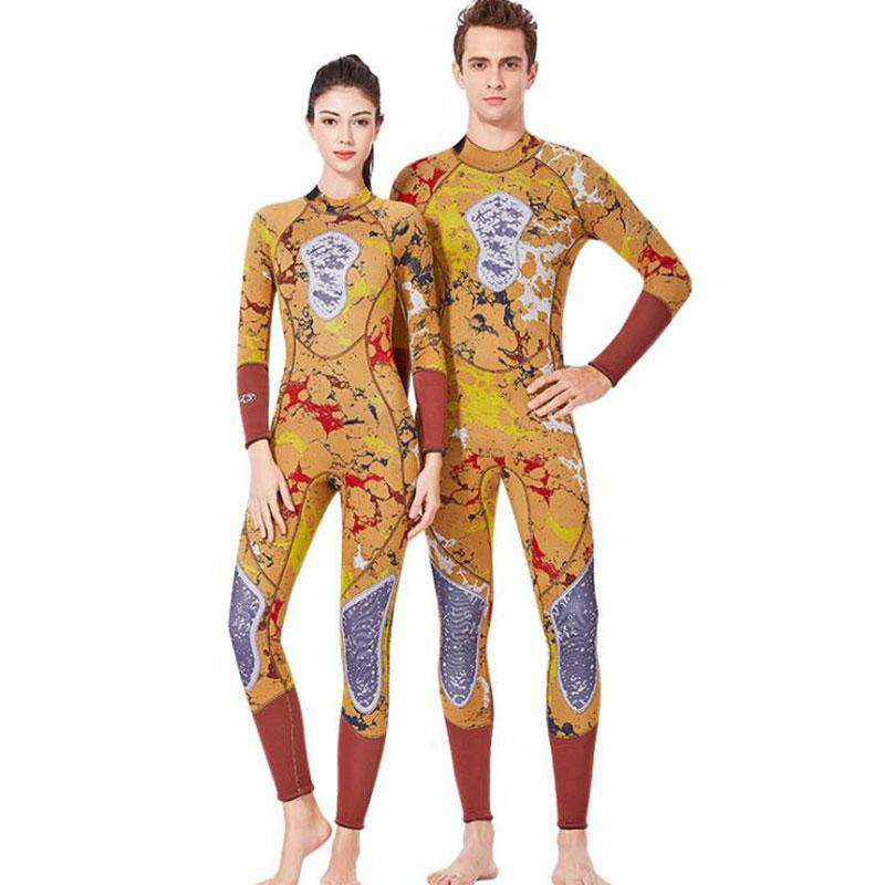 DIVE & SAIL Couples Adult 3MM Spearfishing Suit One Piece Scuba Camo Wetsuit