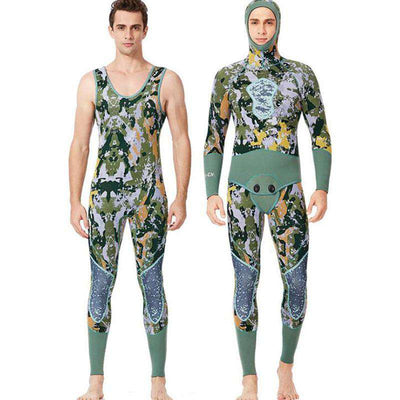 Dive & Sail 3MM 2 Piece Reef Camo Wetsuit Beavertail Spearfishing Suit