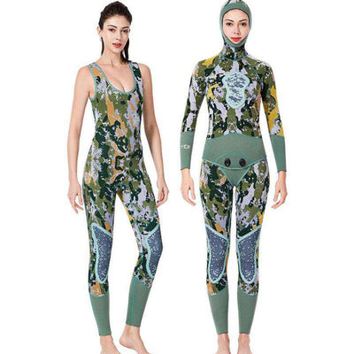 Dive & Sail 3MM Beavertail Reef Camo Wetsuit for Men Women