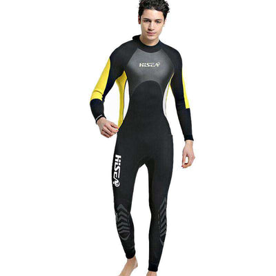 HISEA 3mm Couples Scuba Full Wetsuit Long Sleeve Back Zip Wet Suit for Men Women