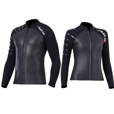 DIVE & SAIL Black Rubber Smoothskin 3mm Wetsuit Jacket