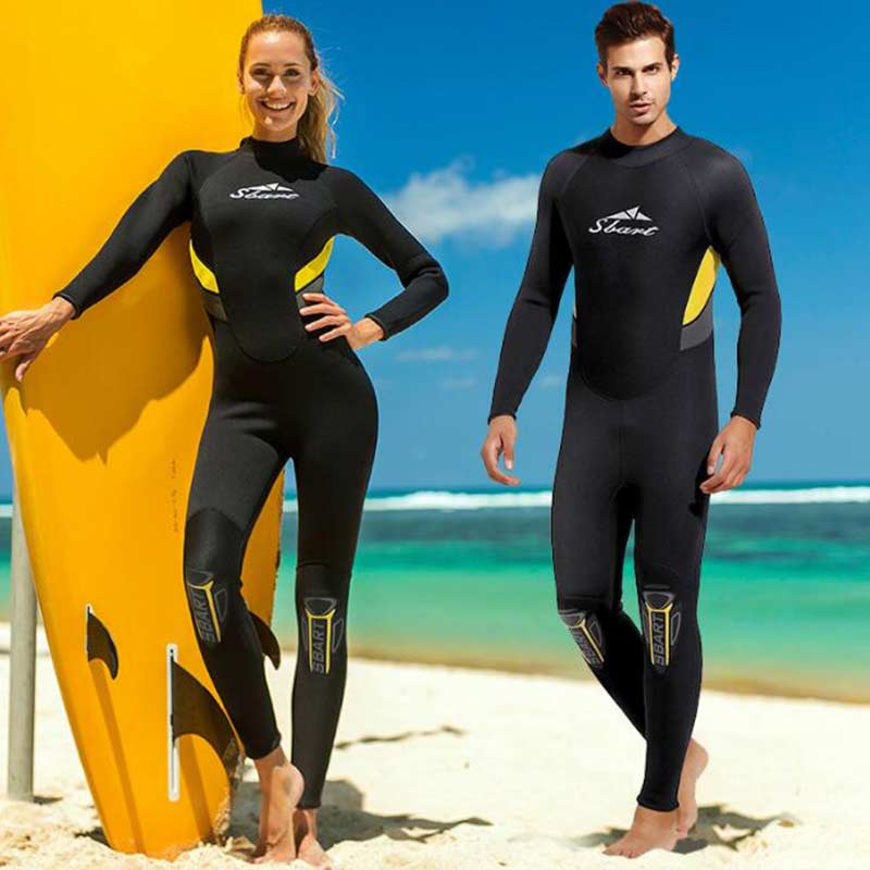 SBART 3MM Warm Full Freedive Wetsuit for Men Ladies