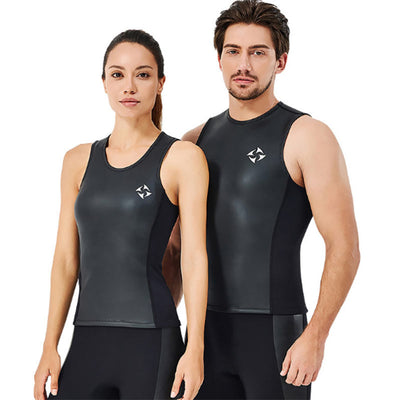 DIVE & SAIL 2MM Black Smooth Skin Wetsuit Vest