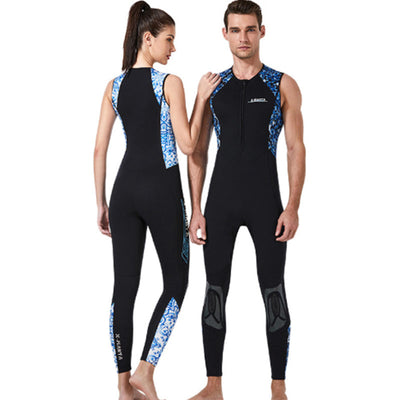DIVE & SAIL 3mm Front Zip Long John Wetsuit