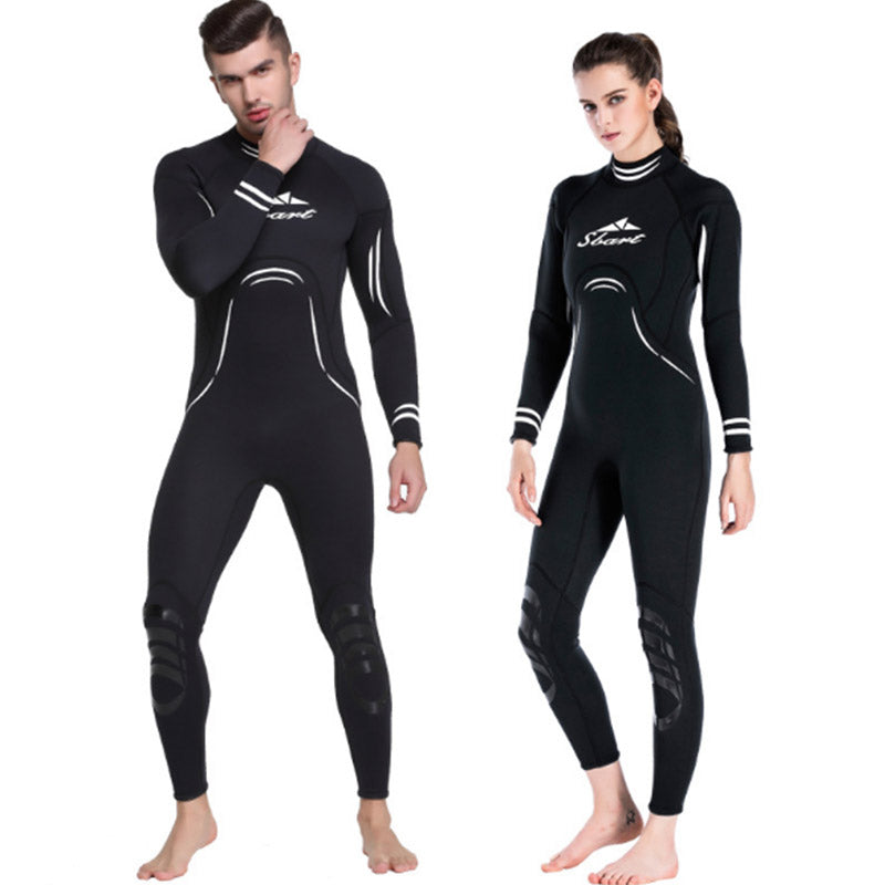 Sbart 3mm Black Neoprene Full Wetsuit for Men Women