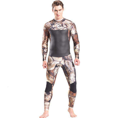 Men's Long Sleeve 3MM Full Camo Diving Spearfishing Wetsuit