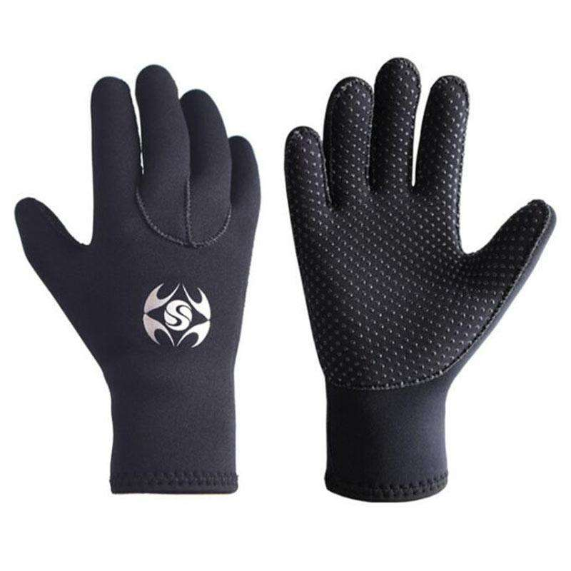 SLINX 3mm Warm Adults Anti-skid Wetsuit Gloves for Snorkeling Scuba Diving