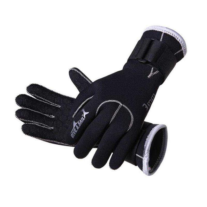 DIVE & SAIL 3MM Neoprene Scuba Diving Wetsuit Gloves Anti-slip for Men Women