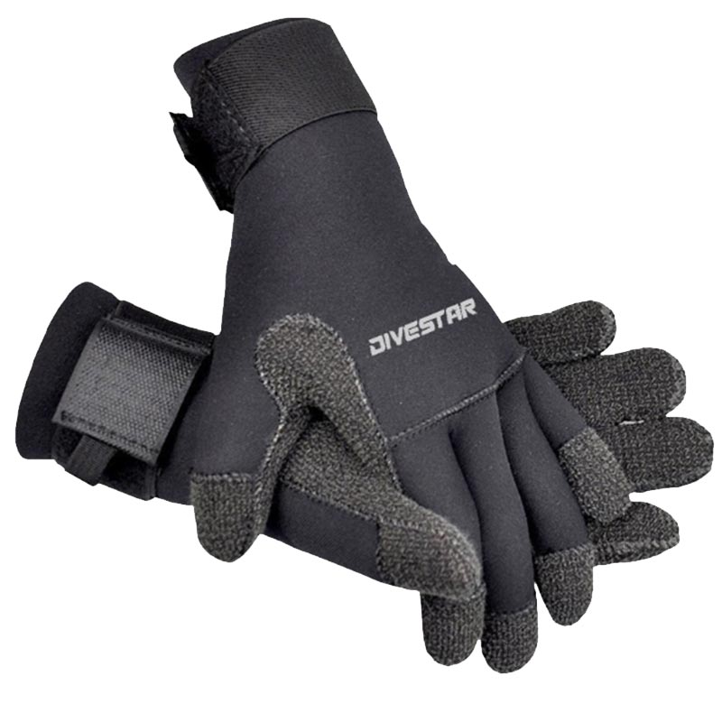 DIVERSTAR Kevlar 3MM Black Diving Gloves
