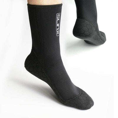 SLINX 3mm Thermal Neoprene Diving Socks Anti-skid Water Wetsuit Socks for Adult Men Women
