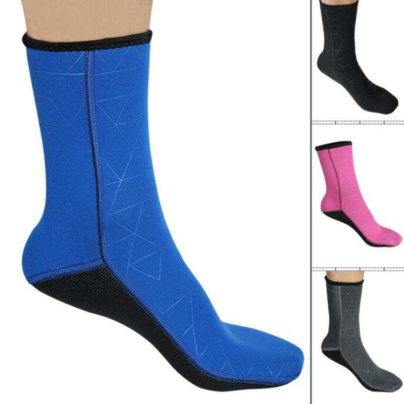 SLINX 3mm Warm Diving Snorkeling Water Wetsuit Socks for Men Women
