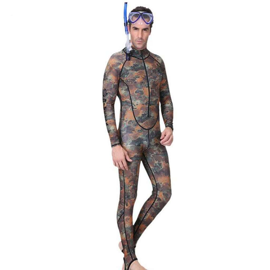 Camouflage Diving Suit Men's One-piece Sunscreening Wetsuit Swimsuit