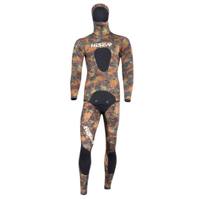 HISEA Mens 5MM Coral Reef Camouflage 2 Piece Wetsuit