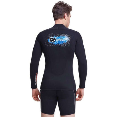 Men's 3MM Neoprene Wetsuit Long Sleeved Diving Surfing Fishing Suit