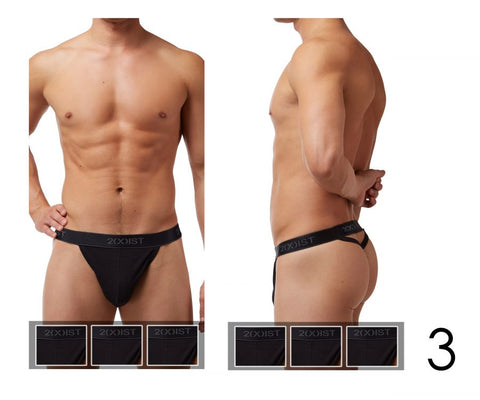 2(X)IST Cotton 3PK Y-Back Thong 3102030203 - CITYBOYZ★USA