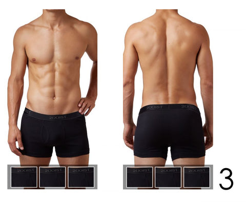 2(X)IST Cotton 3PK Boxer Brief Underwear- CITYBOYZ★USA