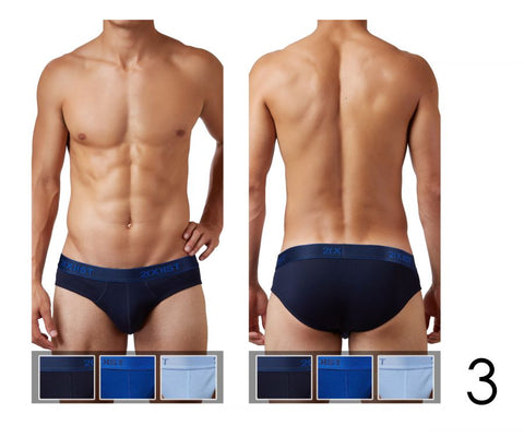 2(X)IST Cotton 3PK No-Show Brief 3102032003 - CITYBOYZ★USA