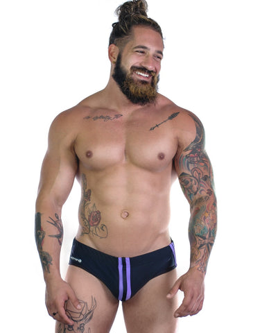 Wildmant Sportivo Bikini Black & Purple Swimwear- CITYBOYZ★USA