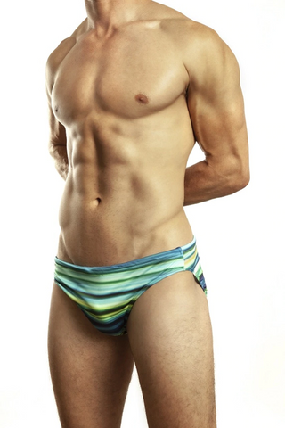 Jack Adams Blue Vibe Swim Brief Swimwear- CITYBOYZ★USA