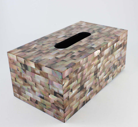 Shaded Elegance Tissue Box - Cascara Interiors