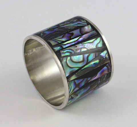 Abalone Shard Napkin Rings