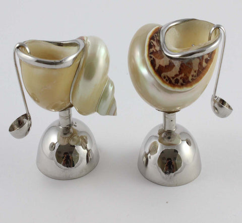 Long Leg Salt and Pepper Pot with Spoon