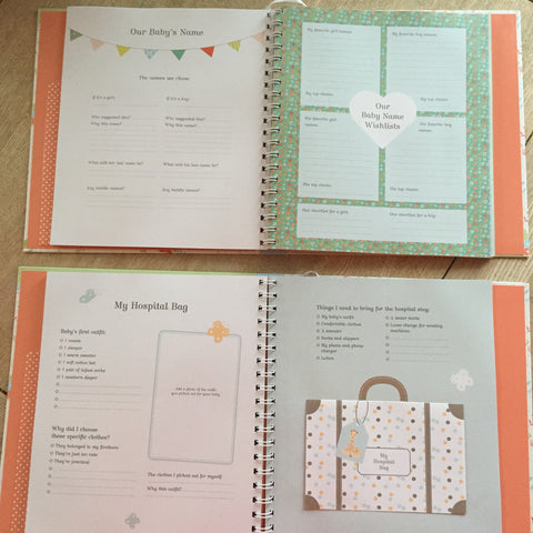 Pregnancy journal ulluv this beautiful album is also incredibly functional thanks to monthly to do lists tips for morning sickness baby supply checklists and more solutioingenieria Gallery