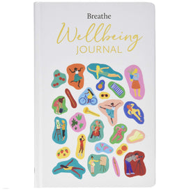 Breathe Wellbeing Journal + colouring pencils