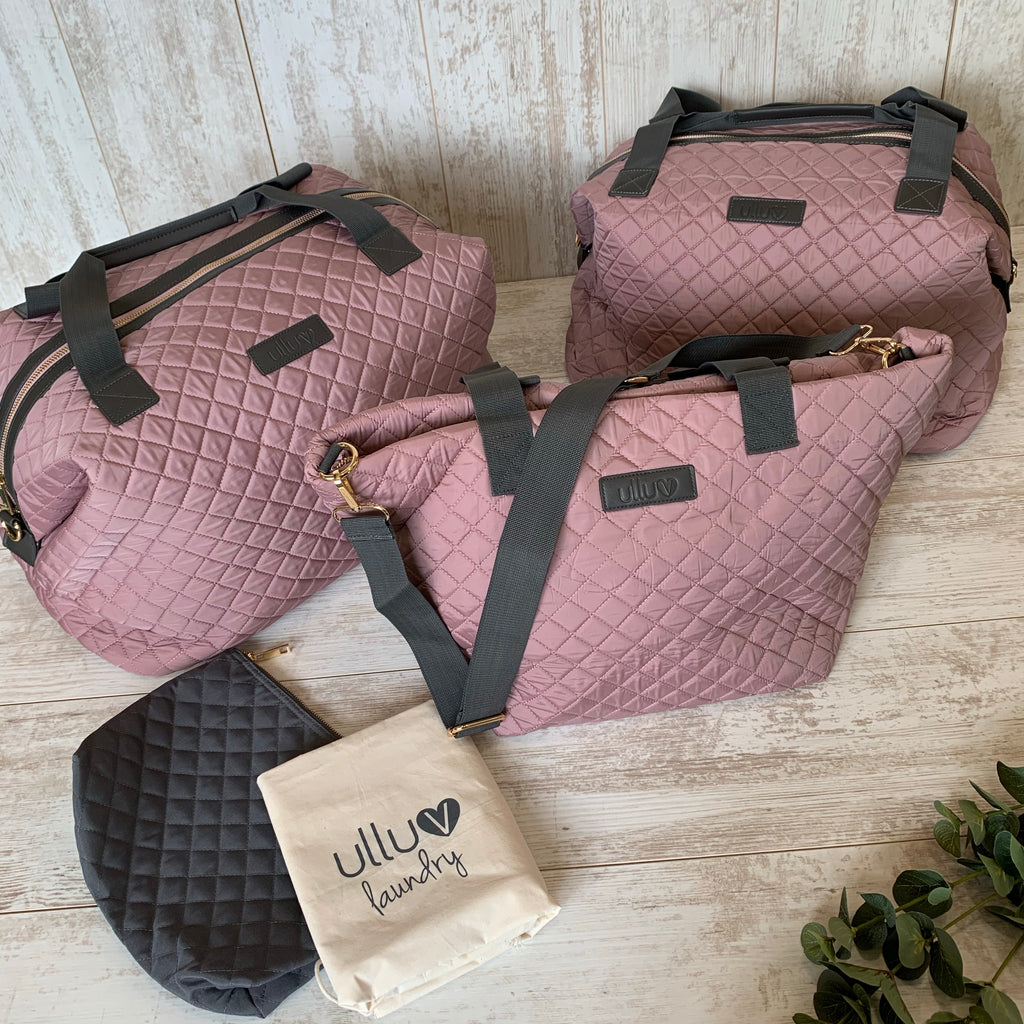 Dusty Pink Signature Quilted 4 Bag set