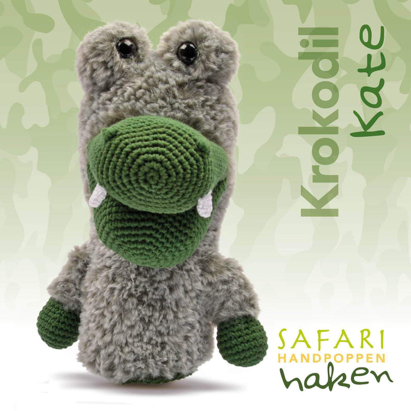 CuteDutch Garenpakket: Safari handpop krokodil Kate