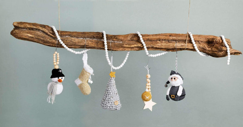 CuteDutch Haakpakket: Sparkly XMAS Hang-along (CAL)