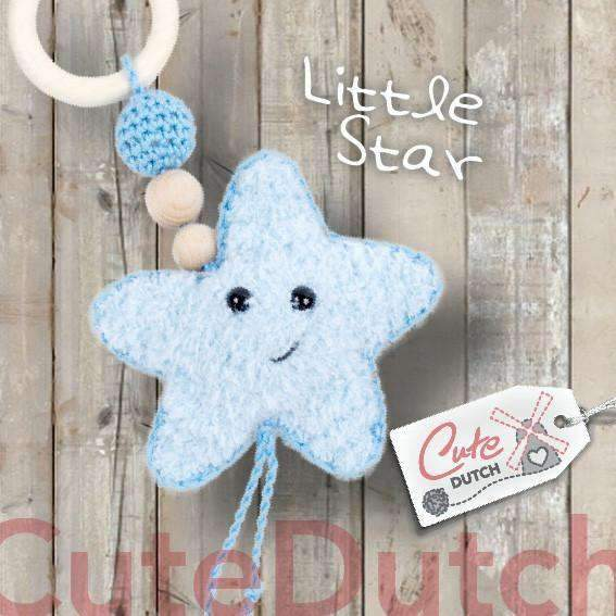 CuteDutch Haakpatroon PDF Haakpatroon Bijtring Little Star (download)