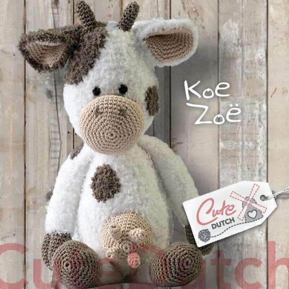 CuteDutch Haakpatroon PDF Haakpatroon Koe Zoë (download)