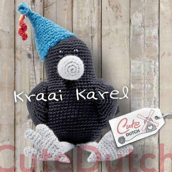 CuteDutch Haakpatroon PDF Haakpatroon Kraai Karel (download)