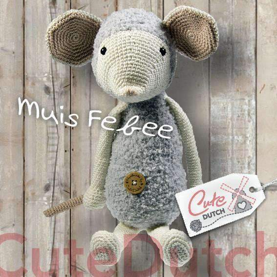 CuteDutch Haakpatroon PDF Haakpatroon muis Febee (download)
