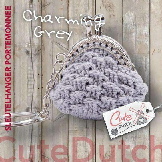 CuteDutch Haakpatroon PDF Haakpatroon portemonnee Charming Grey (download)