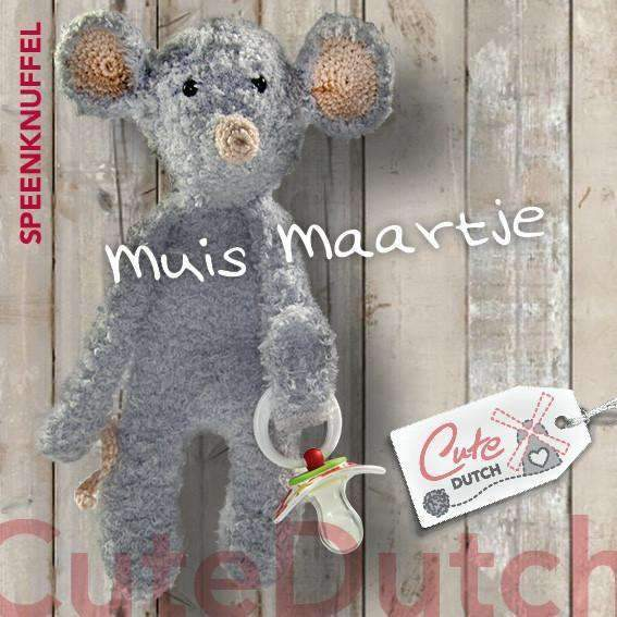 CuteDutch Haakpatroon PDF Haakpatroon Speenknuffel muis Maartje (download)